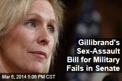 Gillibrand's Sex-Assault Bill for Military Fails in Senate