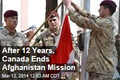 After 12 Years, Canada Ends Afghanistan Mission