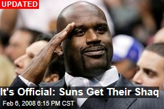 It's Official: Suns Get Their Shaq