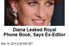 NoTW Editor: Diana Leaked Royal Phone Book
