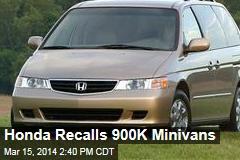Honda Recalls 900K Minivans