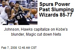 Spurs Power Past Slumping Wizards 85-77