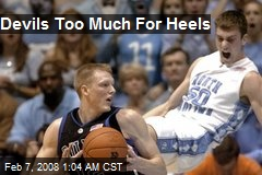 Devils Too Much For Heels