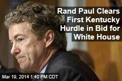 Rand Paul Clears First Kentucky Hurdle in Bid for White House