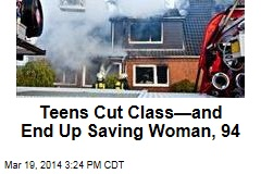 Teens Cut Class—and End Up Saving Woman, 94