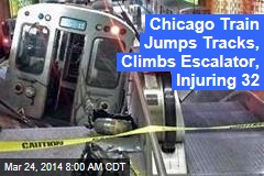 Chicago Train Jumps Tracks, Climbs Escalator, Injuring 32