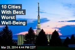 10 Cities With Best, Worst Well-Being