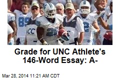 Grade for UNC Athlete's 146-Word Essay: A-
