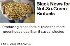 Black News for Not-So-Green Biofuels