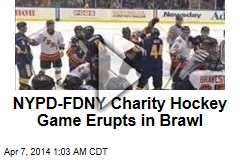 NYC Cop-Firefighter Hockey Game Erupts in Brawl