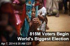 815M Voters Begin World's Biggest Election