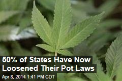 50% of States Have Now Loosened Their Pot Laws