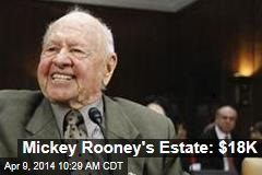 Mickey Rooney's Estate: $18K