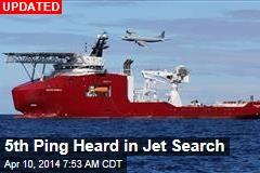 5th Ping Heard in Jet Search