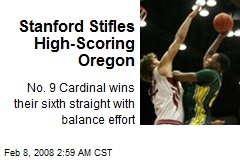 Stanford Stifles High-Scoring Oregon