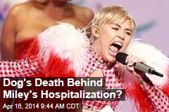 Dog's Death Behind Miley's Hospitalization?