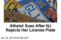 Atheist Sues After NJ Rejects Her License Plate