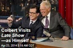 Colbert Visits Late Show —as Himself