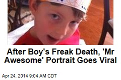 After Boy's Freak Death, 'Mr Awesome' Portrait Goes Viral