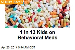 1 in 13 Kids on Behavioral Meds