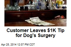 Customer Leaves $1K Tip for Dog's Surgery