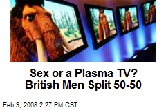 Sex or a Plasma TV? British Men Split 50-50