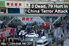 3 Dead, 79 Hurt in China Terror Attack