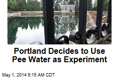 Portland Decides to Use Pee Water as Experiment