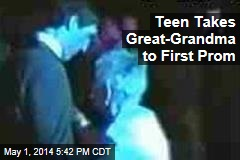 Teen Takes Great-Grandma to First Prom