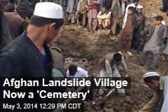 Afghan Landslide Village Now a 'Cemetery'