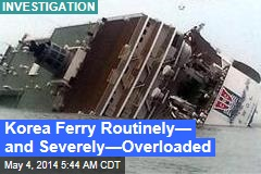 Korea Ferry Routinely— and Severely—Overloaded