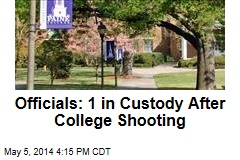 Officials: 1 in Custody After College Shooting