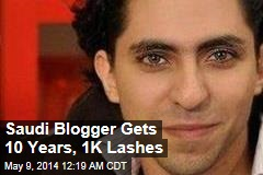 Saudi Web Forum Founder Gets 10 Years, 1K Lashes