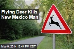 Flying Deer Kills New Mexico Man