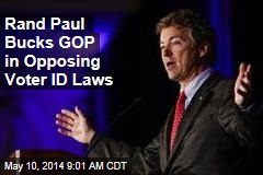 Rand Paul Bucks GOP in Opposing Voter ID Laws