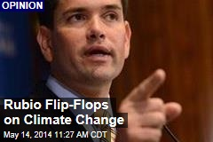 Rubio Flip-Flops on Climate Change