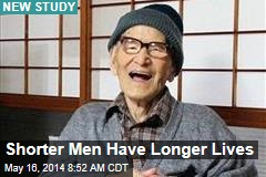 Shorter Men Have Longer Lives