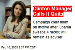 Clinton Manager Calls It Quits