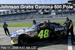 Johnson Grabs Daytona 500 Pole