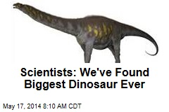 Scientists: We've Found Biggest Dinosaur Ever