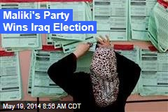 Maliki's Party Wins Iraq Election