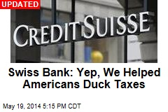 US Charges Swiss Bank in Tax Evasion Case