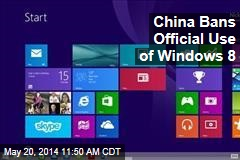 China Bans Official Use of Windows 8