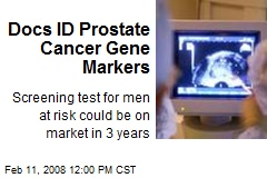 Docs ID Prostate Cancer Gene Markers