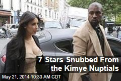 7 Stars Snubbed From the Kimye Nuptials