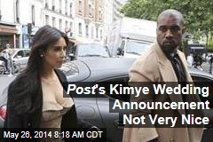 Post on Kim, Kanye: 'Two Jackasses Got Married'