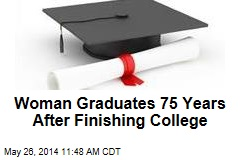 Woman Graduates 75 Years After Finishing College