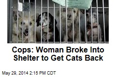 Cops: Woman Broke Into Shelter to Get Cats Back