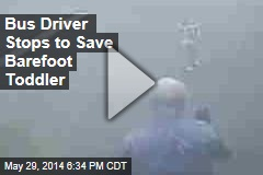 Bus Driver Stops to Save Barefoot Toddler