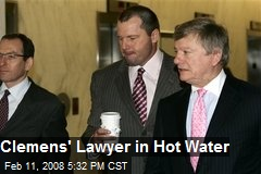 Clemens' Lawyer in Hot Water